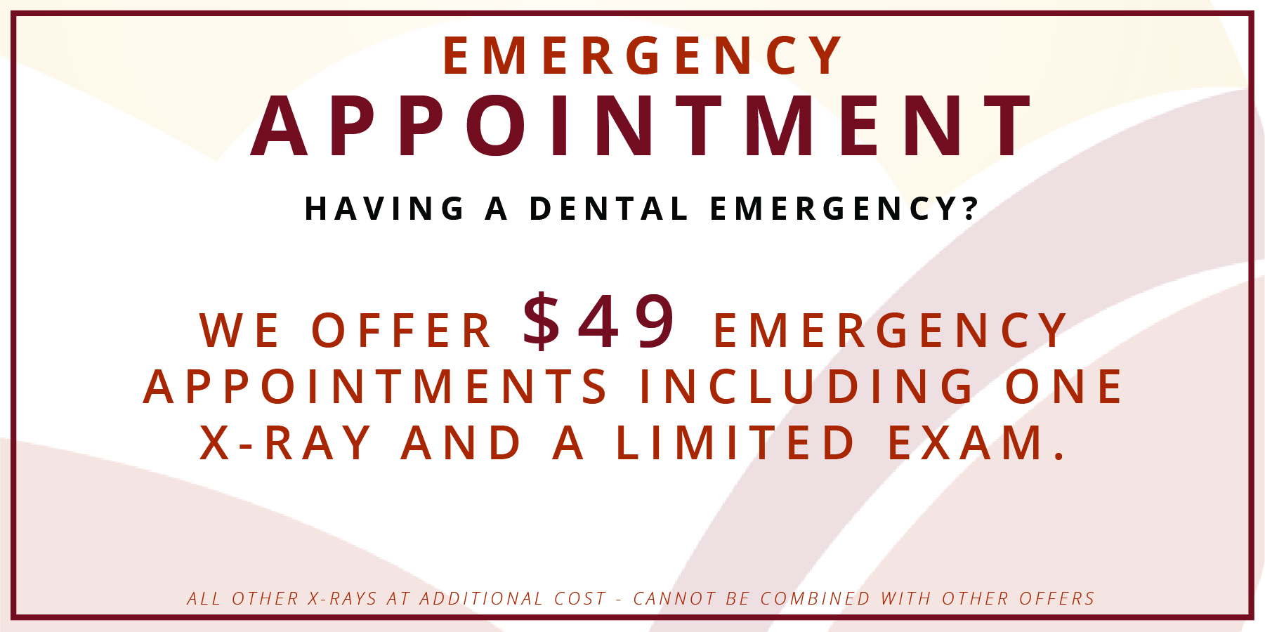 emergency appointment coupon